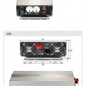 اینورتر ۱۵۰۰ وات سینوسی خالص ۱۲ ولت مدل KEY1015